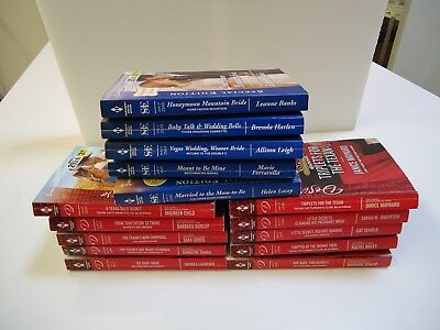 Lot 10 HARLEQUIN DESIRE + 5 SPECIAL EDITION USED PAPERBACK ROMANCE BOOKS