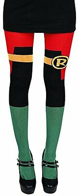BIOWORLD GT41LMDCO DC Comics Robin Suit Up Costume Sheer Tights