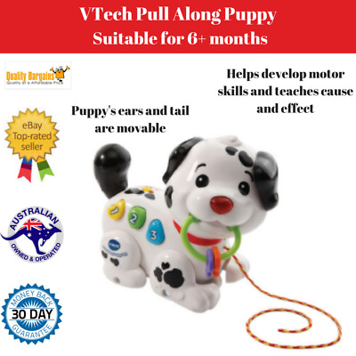 Educational Pull Along Puppy Baby Toy Toddler Activity Music Musical Animal Kids