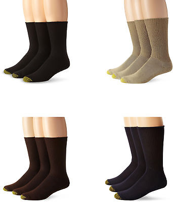 Gold Toe Men's Cushion Foot Fluffie Sock, Assorted Colors, 3 Pairs