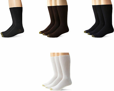Gold Toe Men's Cotton Fluffies Casual Socks, Assorted Colors, 3 Pairs
