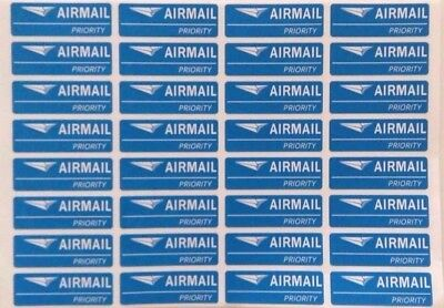 32 Stickers For Envelope-Parcel-Airmail Label Sticker Blue Background Style