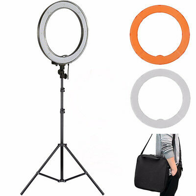 """New ES180 LED 12"""" 180pcs 36W 5500K Dimmable Ring Light, Diffuser, Light Stand de"""