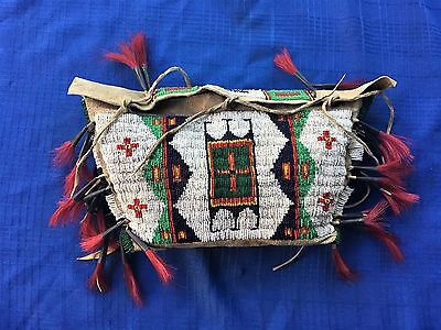 American Indian Beaded Bag - Rare Size
