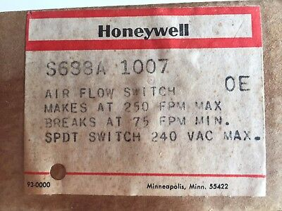 """New Honeywell S688A 1007 S688A1007 5"""" Sail Duct Air Flow Switch Free Shipping"""