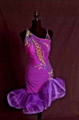 Ballroom Dance Dress Costume for Showcase or Competition, Latin Or Rhythm