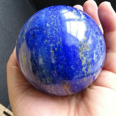 Natural Safe Blue Lapis Lazuli Crystal Ball Healing Sphere 40Mm + Stand