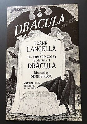 Edward Gorey *Poster for Dracula at Martin Beck Theatre* ILLUS/SIGNED BY GOREY