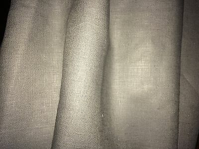 ROGERS & GOFFIGON linen grey soft smooth 10+ yards remnant new