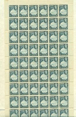 Lot 801 Bermuda Kg6 2.5 Blue And Blue Sheet Of 60 Cat 510.00