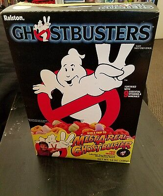 Ralston Vintage Ghostbusters 2 Cereal Box 1989