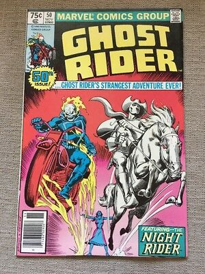 The Ghost Rider Vol 1 #50 (1980)  Marvel Comics Featuring Carter Slade
