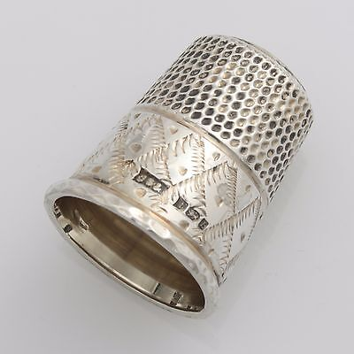 Vintage Solid Sterling Silver Thimble Hallmarked 1976 James Swan