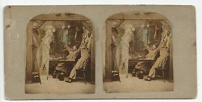Stereoview Genre The GHOST in the Stereoscope London Stereoscopic Company 1850er