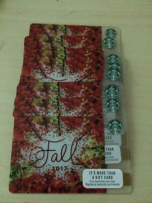 New STARBUCKS FALL 2017 gift card lot of 10 cards