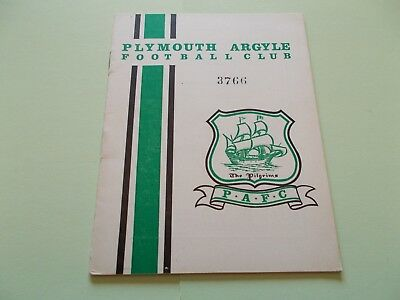 1964-65 Plymouth Arygle v Derby County