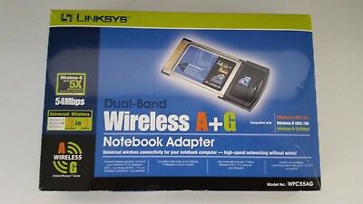 Linksys Dualband WPC55AG-UK A+G Wireless Notebook Adapter 54Mbps