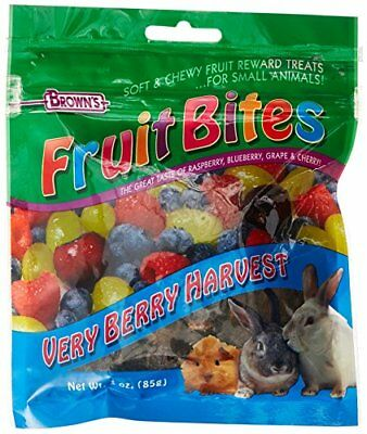 F.M. Brown's Fruit Bites Verry Berry Harvest Small Animal Treat, 3-Ounce