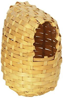 Prevue Pet Products BPV1155 Bamboo Covered Breeding Nest Hut for Birds, Large