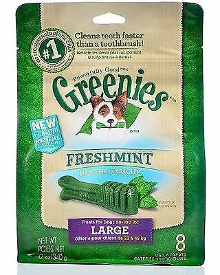 GREENIES Mint Treat-Pak-Large Dog 12 Oz, Pack of 4