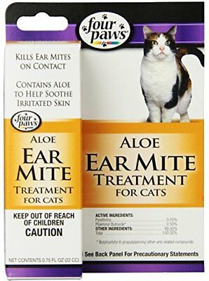 Four Paws Cat Ear Mite Remedy, 0.75oz