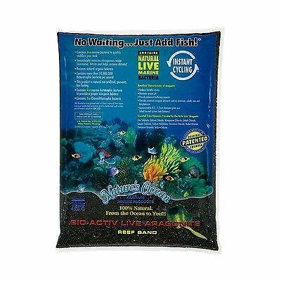 Bio-Activ Live Aragonite Beach Live Aquarium Sand in Black - 40 lbs [Set of 2]