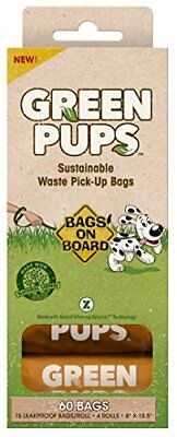 GREEN PUPS Dog Waste Bags Refill Pack, 60 Bags