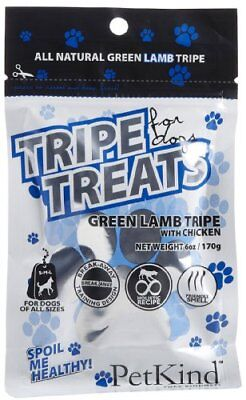 PETKIND 328042 Lamb Tripe with Chicken Treats Pouch for Pets, 6-Ounce