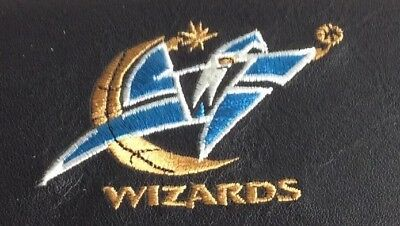 Basketball Wizards Black Leather Checkbook Officially Licensed Embroidered New