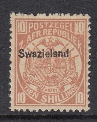Swaziland - 1889-90 - Sg9 - 10/ dull chestnut - Unmounted mint - Cat £7,000