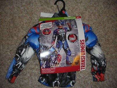 NEW Transformers Optimus Prime Halloween Costume toddler size 2T Disguise