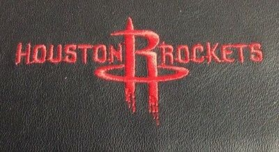 NBA Houston Rockets Black Leather Checkbook Officially Licensed Embroidered New