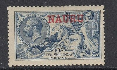 NAURU 1916-23 10/- PALE BLUE SG 23 - mounted mint.
