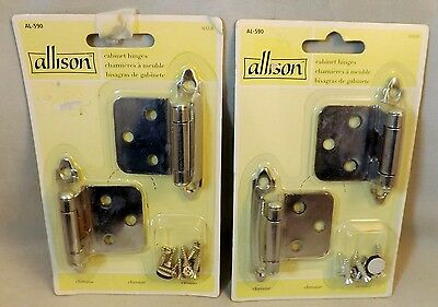 Cabinet Hinges By Newell Rubbermaid Co. Set of 4 Chrome w/Screws (New - Sealed)