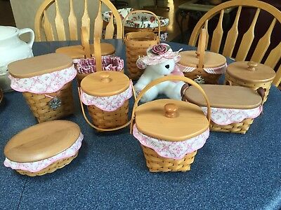Longaberger: Horizon of Hope Basket Set 1997-2006