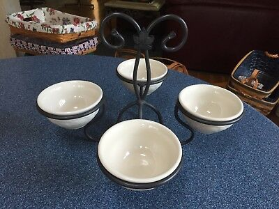 Longaberger:  Dessert Bowl Caddy w/ 4 bowls