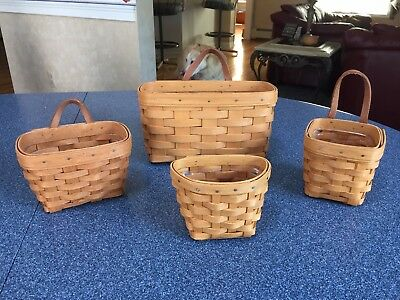 Longaberger: Hostess Baskets with hanging hook & handle