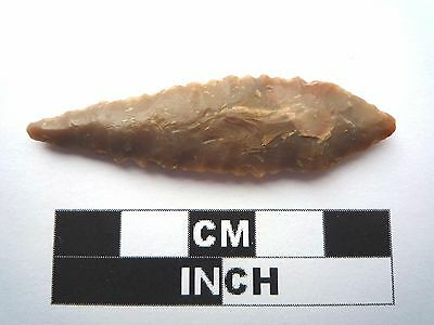 Neolithic Spearhead 53mm, Saharan Flint Artifact - 4000BC  (1033)
