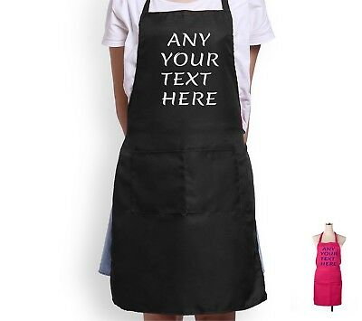 personalised apron kitchen aprons custom printed christmas gift ANY  TEXT