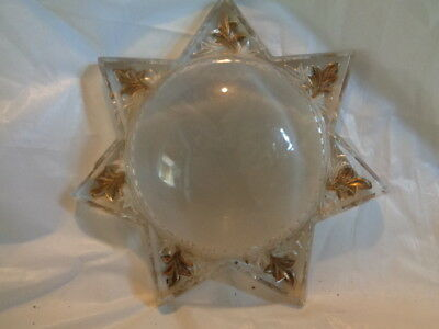 Antique convex glass dome picture star Fancy Ornate frame VICTORIAN Pat. 1899