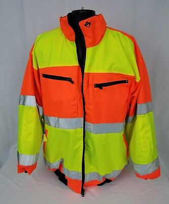 2W Safety Jacket ANSI Class 3, Reversible, Water proof, Worn Once Fleece 3XL