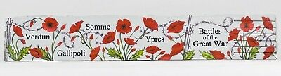 Ww1 Battles Of The Great War Leather Bookmark - Verdun, Gallipoli, Somme, Ypres