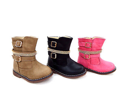 Rhinestone Girls BOOTS+boots+Winter+Fur+Anti slipping sole+Thermal boots