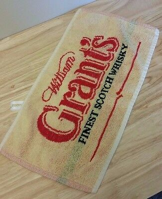 Grant's Scotch Whisky Bar Towel Terry Cloth