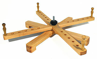 """Yarn Swift Tabletop Windmill or Amish Style Handcrafted Portable Maple Swift 24"""""""