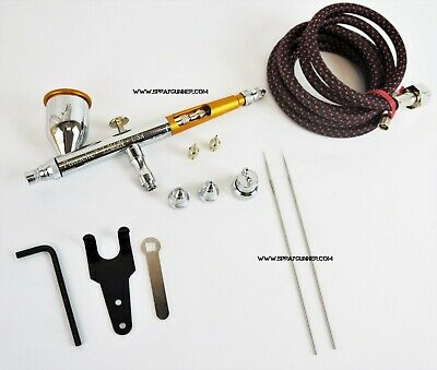 Paasche Talon TG-3F Airbrush Set with hose 3 nozzle kit and BONUS by SprayGunner