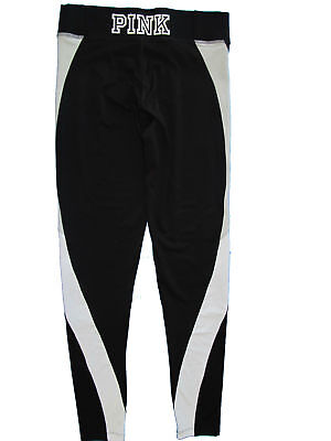 69a08dc109 Victoria's Secret Pink Ultimate Yoga Leggings Pant Black & Light Gray Small