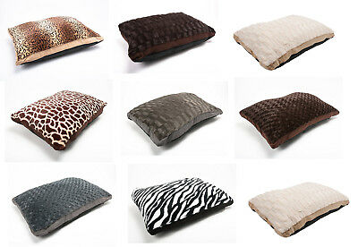 Luxury Assorted Fleece Dog Bed Pet with Washable Zipped Mattress Cushion Pet Bed