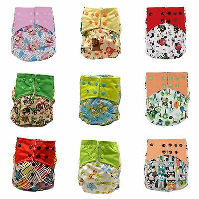 Baby Reusable Waterproof Pocket Nappy Cloth Diaper Cover Wrap Double Gussets