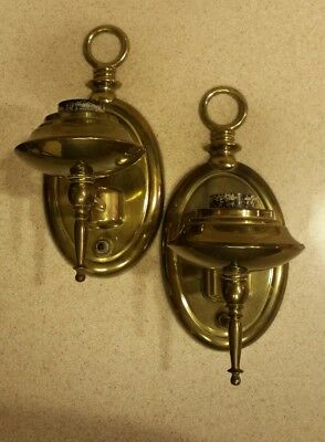 Brass Pair Wall Sconce Lights Lighting Antique Vintage